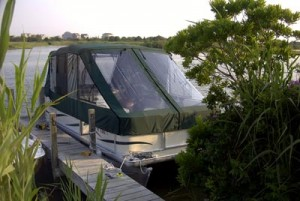 Pontoon Boat Slant Front Full Enclosure