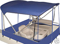 Pontoon Boat Quick Weather Enclosure - 8x8 Square