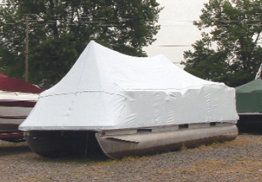 Outside Storage Boat Cover on a Pontoon Boat