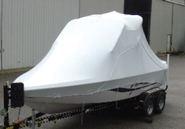 Outside Storage Boat Cover on a Wakeboard Tower Boat