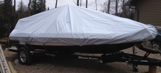 2008 Triton 176 TR with our Outside Storage Boat Cover